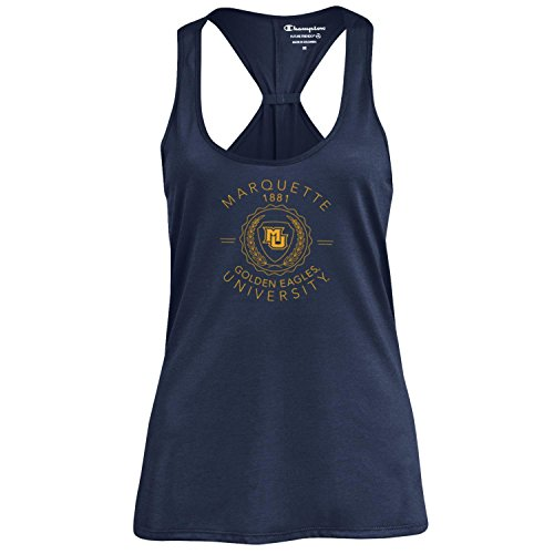 Champion NCAA Women's Swing Silouette Racer Back Tank Top, Marquette Golden Eagles, X-Large