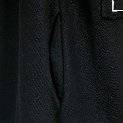 Printed Up Black Ililily Diesney Hoodied Long Mickey Boyfriend Zip Coat Fit Jackets wq1qAz