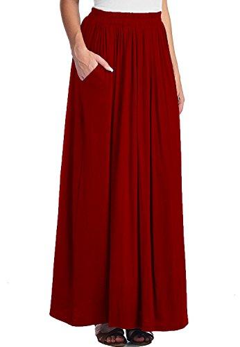 Rouge Spandex Vineux longue Jupe Maxi femme CoutureBridal Jupe d't Femme xgwO8O