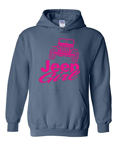 Acacia Jeep Girl Unisex Hoodie Sweatshirt Small Indigo Blue