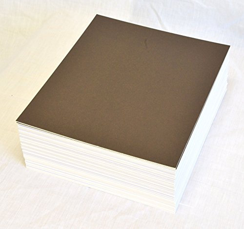 Brown Matboard - topseller100, Pack of 50 sheets 8x10 UNCUT matboard / mat boards (Brown)