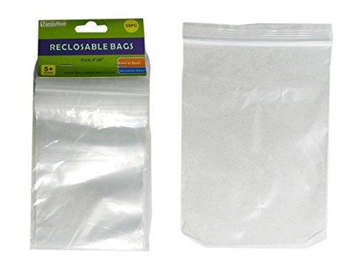 30 PC Reclosable Bags Size: 4'' x 6'' , Case of 144
