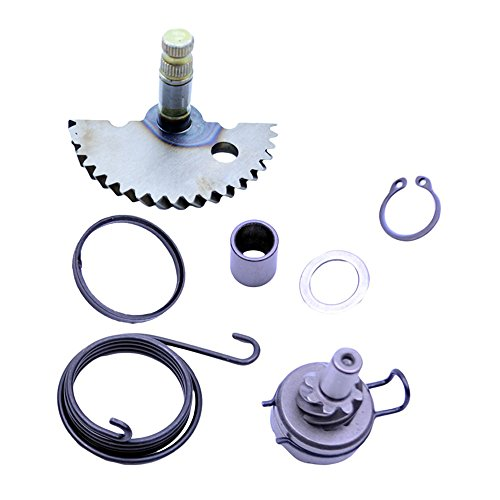 FLYPIG Engine Start Gear Kick Start Idler Gear Shaft Spring for GY6 50 139QMB 50cc Scooter Moped -