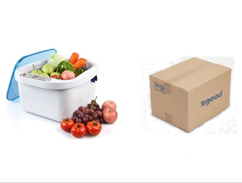 12.8L Home Use Ultrasonic Ozone Vegetable Fruit Sterilizer Cleaner Washer Health by Moredental ()