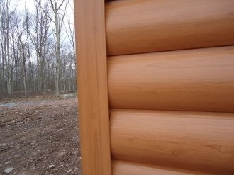 Timbermill log siding vinyl 1 square for What is 1 square of vinyl siding