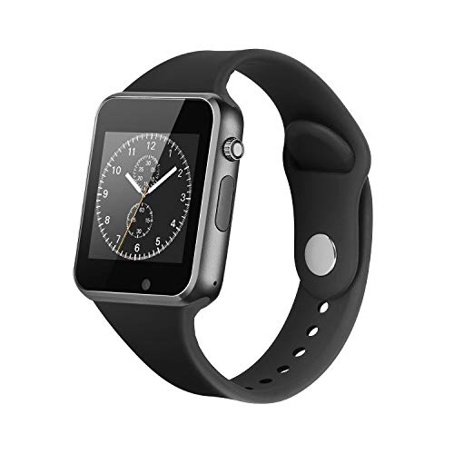 Smart Watch for Android Phones,2018 Bluetooth smartwatch Phone Watch, Waterproof Smart Watches Touchscreen with Camera Compatible for iOS iPhone X 8 7 6 6S 5 Plus Android Samsung Women Man (Black)