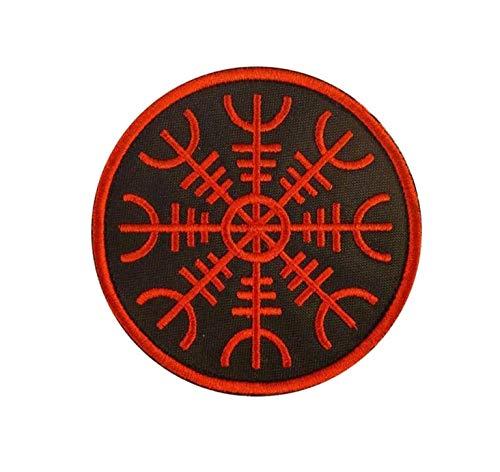 aegishjalmr Viking Heaume de la terreur Awe Chiffon brod/é fer sur Patch