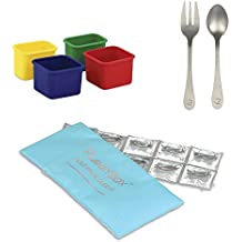 PlanetBox Accessories - Eco-Friendly Stainless Steel Bento Lunch Box (Pods + ColdKit + Utensils, Rover Compatible)