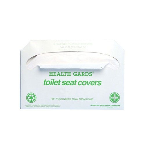 Hospeco Health Gards Recycled Toilet Seat Covers (250 Covers/Pack) (10 Packs) - BMC-HSC GREEN-2500