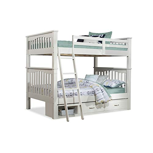 NE Kids Highlands Harper Full Over Full Bunk Bed with Storag