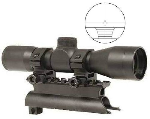 Ultimate Arms Gear Tactical SKS 4x30 mm Rangefinder Reticle Rifle Hunting Sniper Scope with See Thru Lens Caps (Sks Airsoft)
