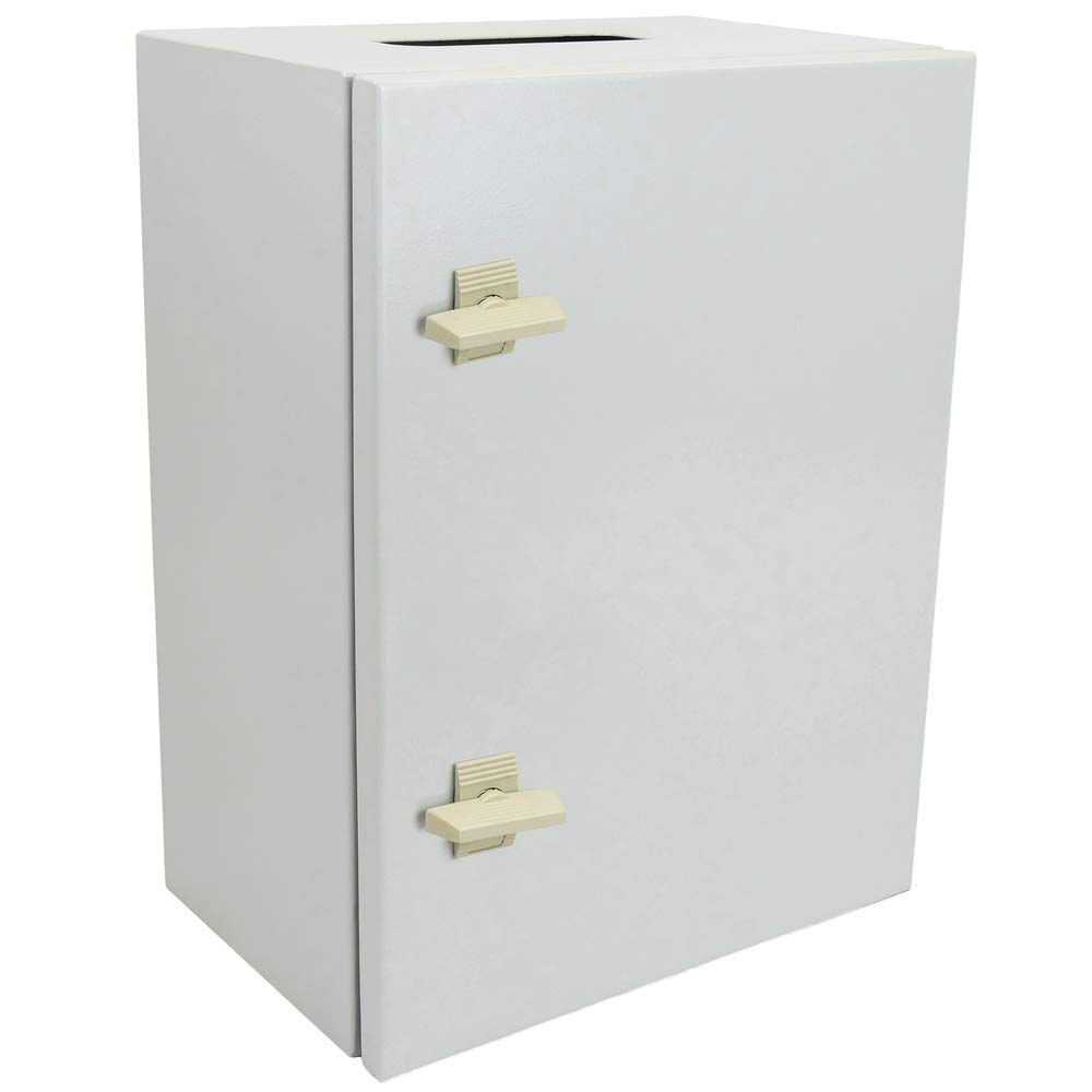Caja de distribuci/ón el/éctrica met/álica con protecci/ón IP65 para fijaci/ón a Pared 600x400x300mm BeMatik
