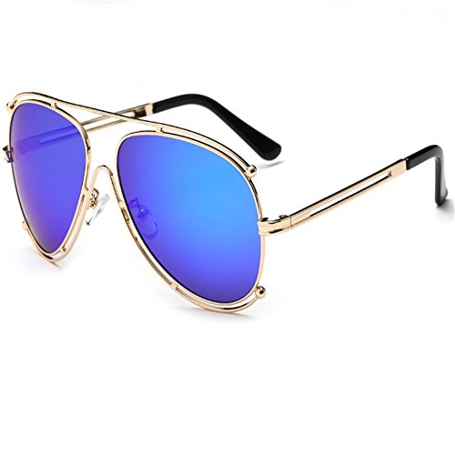 Z-P Unisex New Style Fashion Double Circle Metal Frame Frog Mirror Sunglasses - Spectacles Rimless Of Images