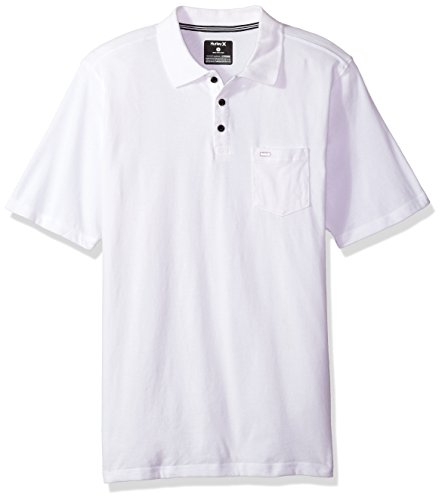 Hurley Men's Nike Dri-Fit Short Sleeve Lagos Polo, White, XL by Hurley (Image #1)