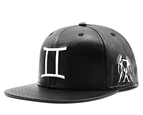 Bayto Unisex Fashion PU Street Hats Hip-hop Bboy Baseball Cap Constellation DT081-gemini