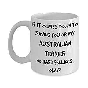 Funny Australian Terrier Mug - White 11oz 15oz Ceramic Tea Coffee Cup - Perfect For Travel And Gifts 32