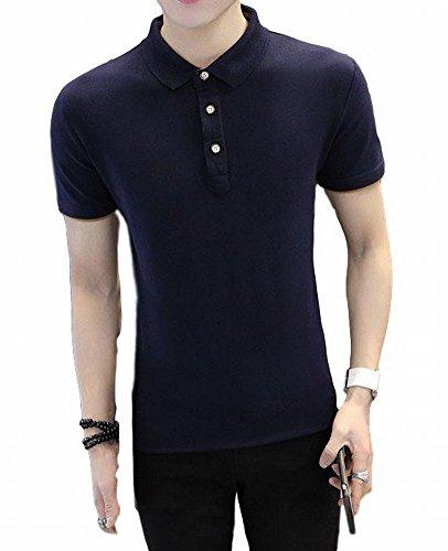[ヴォンヴァーグ] ポロシャツ ゴルフウェア トップス 夏 通気性 薄手 半袖 レイヤード クールビズ 無地 メンズ