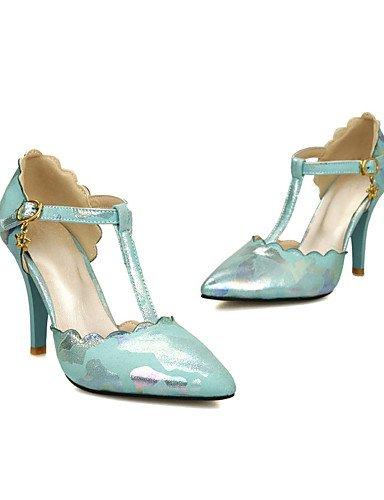 GGX/Damen Schuhe Patent Leder Frühjahr/Sommer/Herbst Heels/D Orsay & zweiteiliges/spitz Toe Heels Office & Karriere blue-us6.5-7 / eu37 / uk4.5-5 / cn37