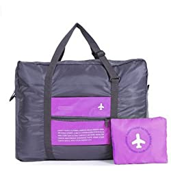 ORICSSON Travel Sports Gym Lightweight Foldable Luggage Duffle Bag for Women and Men, Purple