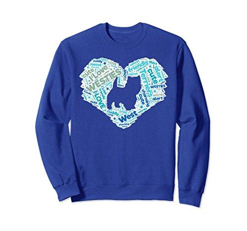 (Unisex I Love West Highland White Terriers Westie Dog Sweat shirt C XL: Royal Blue)