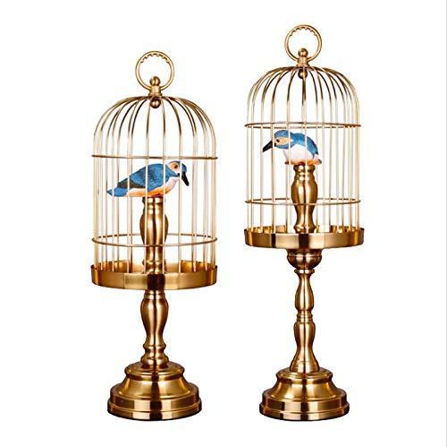 Nosterappou 家の金属の鳥かごの装飾、リビングルームのテレビキャビネットオフィスのデスクトップの金属の装飾、コーヒーテーブルポーチ研究装飾家具 B07SZJVQ7Q