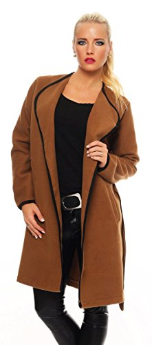 Marron Fashion4Young Femme noir Manteau Schwarz qRqx1SwBnY