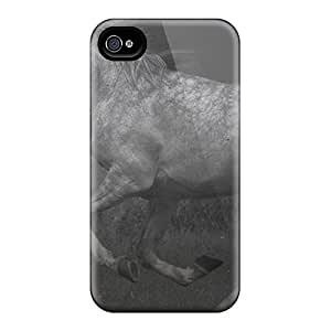 Durable Cases For The Iphone 6- Eco-friendly Retail Packaging(horse In Black White #2)