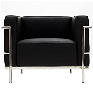 Charles Grande Armchair in Black