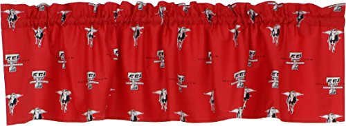 College Covers Texas Tech Red Raiders Printed Curtain Valance - 84