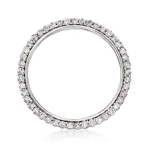 - Ross-Simons 2.00 ct. t.w. Diamond Eternity Circle Pin in 14kt White Gold