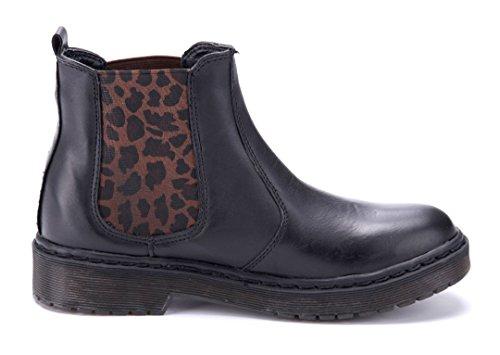 Schuhtempel24 Damen Schuhe Boots Stiefel Stiefeletten Flach 3 cm Schwarz