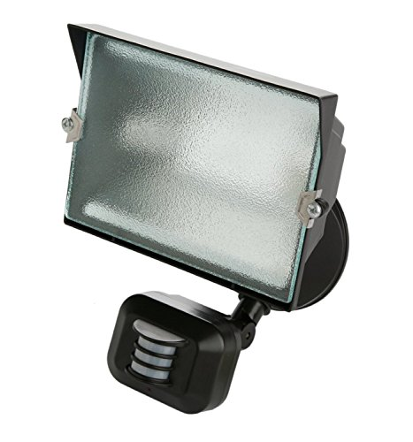 Designers Edge L6009WH 180-Degree Single Head Motion Activated Security Flood Light, Diecast Metal, 500-watt, White