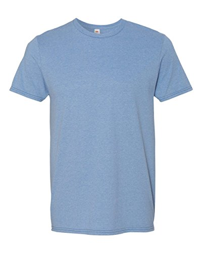 - Adult 4.7 oz. Sofspun« Jersey Crew T-Shirt-Carolina HEATHER-2XL