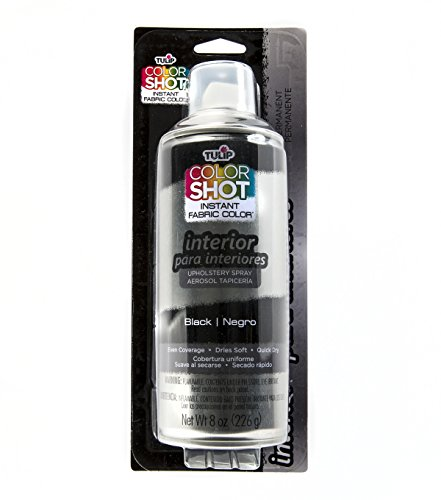 Tulip ColorShot Instant Fabric Color Interior Upholstery Spray 8 oz - Black Upholstery Square Weave
