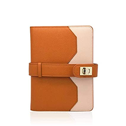 Aura Estelle Lock-It Notebook A6 | Planner | Agenda | Organizer | Journal | Diary | Calendar | Appointment Book (Moscow Copper)