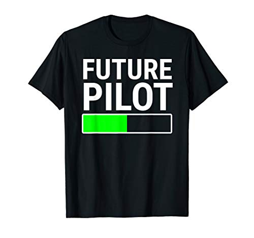 Future Pilot Loading Bar T-shirt Flight School Student Gift