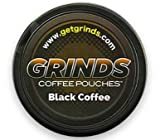 Grinds Coffee Pouches - 6 Cans - Black Coffee - Tobacco Free Healthy Alternative