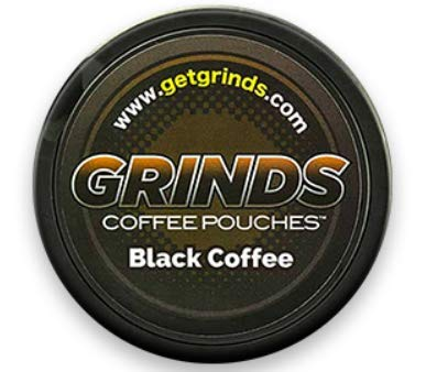 Grinds Coffee Pouches - 3 Cans - Black Coffee - Tobacco Free Healthy Alternative ... ()