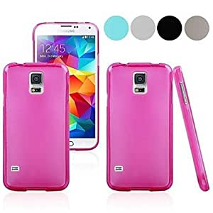 Pure Color Pudding TPU Full Body Case for Samsung Galaxy S5 I9600 (Assorted Colors) , Rose