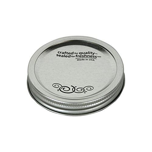 Kerr 00070 Regular Mouth Canning Glass Jar Lids with Bands BPA FREE, 360-Pack