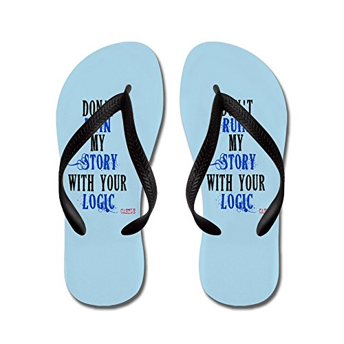 CafePress Dont ruin My Story Quote (V3) - Flip Flops, Funny Thong Sandals, Beach Sandals Black
