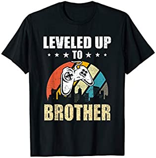 [Featured] Leveled up to Brother Funny Video Gamer Gaming Gift in ALL styles | Size S - 5XL