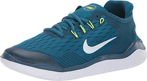 NIKE Free Rn 2018 Big Kids Style : AH3451-402 Size : 5.5 Y US, Blue Force/White-green Abyss (Boys Nike Free Running Shoes)