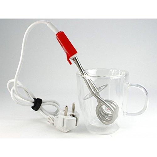 Calentador de vaso - calienta agua - hervidor de agua para hogar o viaje - potente y seguro 350 W: Amazon.es: Hogar