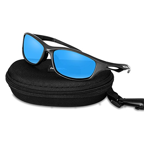 HiCool Cycling Sunglasses, Polarized Sports Sunglasses UV Protection Unbreakable Driving Running Hiking Golf Baseball Fishing Biking Sunglasses for Men Women Youth from HiCool