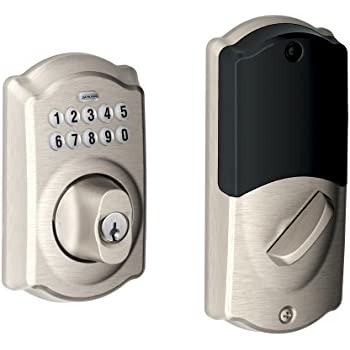 Schlage Be369grnx Cam 716 Keypad Deadbolt Home Security
