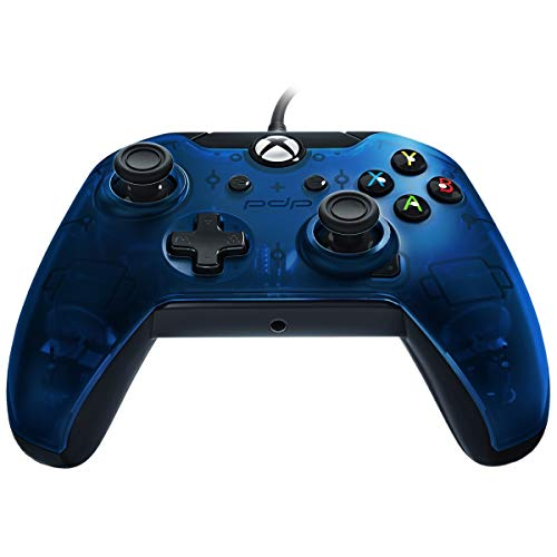 PDP Wired Controller for Xbox One, Xbox One X and Xbox One S, Midnight Blue (Wired Xbox 360 Controller White)