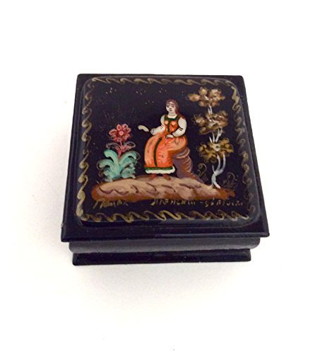 BuyRussianGifts Russian lacquer box Palekh Hand painted