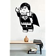 USA Decals4You | Superhero Wall Decals Funny Flying Superman Vinyl Decor Stickers MK0431