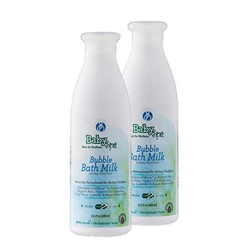 BabySpa Stage 2 Bubble Bath Milk- 8.4 oz - Toddler/ Uplifting Citrus Scent- 2 pack bundle